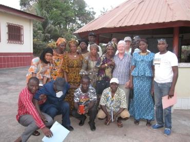 Avec les représentants des associations
